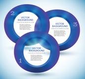Elemento do azul do círculo do molde 3d do boletim de notícias Fotografia de Stock