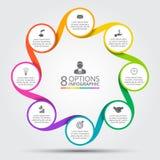 Elemento do círculo do vetor para infographic Fotos de Stock