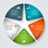 Elemento do círculo do vetor para infographic Fotos de Stock Royalty Free
