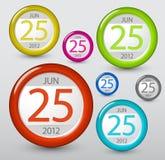 Elemento do calendário do vetor para seu Web Imagem de Stock