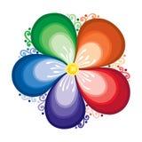 Elemento do design floral no estilo liso Imagem de Stock