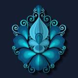 Elemento do design floral no estilo liso Fotografia de Stock