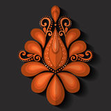 Elemento do design floral no estilo liso Foto de Stock