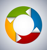 Elemento do design web do círculo Fotos de Stock Royalty Free