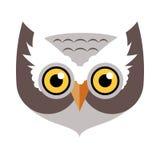Elemento do disfarce de Owl Bird Carnival Mask Childish ilustração do vetor