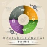 Elemento do gráfico do conceito do plano de negócios ilustração do vetor