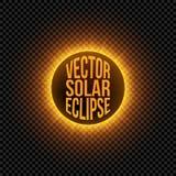 Elemento do gráfico do eclipse solar do vetor Imagens de Stock