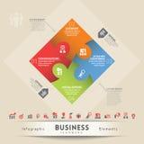 Elemento do gráfico do conceito dos trabalhos de equipa do negócio Imagens de Stock