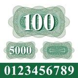 Elemento do Guilloche com números Foto de Stock Royalty Free