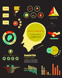 Elemento do infographics do mercado do vintage vetor IL do conceito do lucro Imagens de Stock