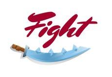 Elemento do jogo da luta com espada Imagem de Stock Royalty Free