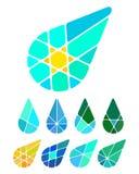 Elemento do logotipo da gota do vetor do projeto Foto de Stock Royalty Free