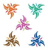 Elemento do logotipo do triângulo do projeto Grupo de logotypes abstratos do vetor Fotos de Stock