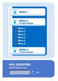 Elemento do menu da navegação do Web Imagens de Stock
