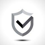 Elemento do molde do projeto do ícone do logotipo da marca de verificação do protetor Foto de Stock