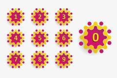 Elemento do número do aniversário com ícone molecular do estilo Foto de Stock