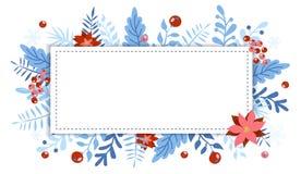 Elemento do Natal e do ano novo, cartaz para seu projeto ilustração do vetor