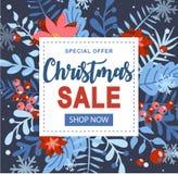 Elemento do Natal e do ano novo, cartaz para seu projeto fotografia de stock