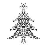 Elemento do Natal Ornamento da árvore de Natal Ilustração do vetor Imagem de Stock