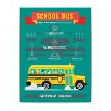 Elemento do ônibus escolar da educação Foto de Stock
