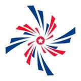 Elemento do projeto, bandeira dos EUA do ícone do vetor Logotipo listrado Ilustração lisa do vetor Imagens de Stock Royalty Free