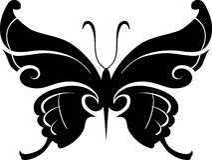 Elemento do projeto da borboleta Fotos de Stock