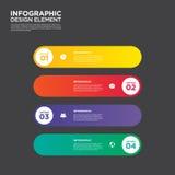 Elemento do projeto da disposição do molde do relatório comercial de Infographic Imagem de Stock Royalty Free