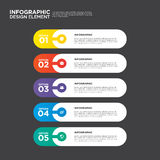 Elemento do projeto da disposição do molde do relatório comercial de Infographic Foto de Stock Royalty Free