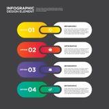 Elemento do projeto da disposição do molde do relatório comercial de Infographic Imagem de Stock