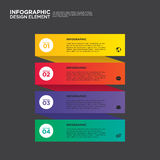 Elemento do projeto da disposição do molde do relatório comercial de Infographic Imagens de Stock Royalty Free