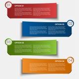 Elemento do projeto das etiquetas das opções da informação Fotos de Stock Royalty Free