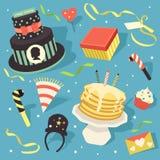 Elemento do projeto de Clipart do ícone do feliz aniversario Fotografia de Stock