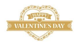 Elemento do projeto do dia de Valentim Imagem de Stock Royalty Free