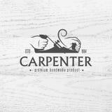 Elemento do projeto do carpinteiro no estilo do vintage ilustração do vetor