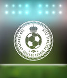 Elemento do projeto do crachá da tipografia do futebol do futebol Fotografia de Stock Royalty Free