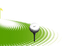 Elemento do projeto do esporte do golfe Fotos de Stock Royalty Free