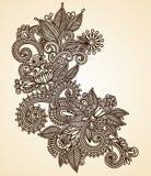 Elemento do projeto do fower do Henna Fotos de Stock