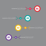 Elemento do projeto do molde da bandeira do relatório comercial de Infographic Fotografia de Stock Royalty Free