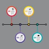 Elemento do projeto do molde da bandeira do relatório comercial de Infographic Foto de Stock