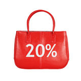 Elemento do projeto do saco da venda isolado no branco imagem de stock royalty free