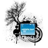 Elemento do projeto do splatter da árvore de Grunde Imagens de Stock Royalty Free
