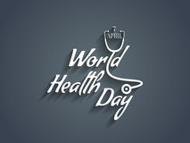 Elemento do projeto do texto do dia de saúde de mundo. Imagem de Stock Royalty Free