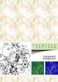 Elemento do projeto floral do vetor Fotos de Stock Royalty Free