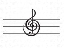 Elemento do projeto. música Imagem de Stock