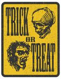 Elemento do projeto para Dia das Bruxas Mão desenhada Vetor Foto de Stock Royalty Free