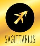 Elemento do projeto do sinal do zodíaco do Sagitário fotos de stock