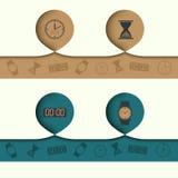 Elemento do sumário de Infographics com ícones e Fotografia de Stock Royalty Free