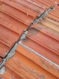 Elemento do telhado vermelho fotografia de stock