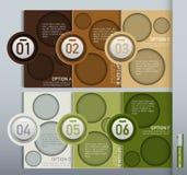 Elemento do vetor para o projeto de Infographic, a apresentação e a carta, Abs Foto de Stock Royalty Free
