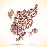 Elemento do vintage no estilo indiano do mehndi Fotografia de Stock Royalty Free